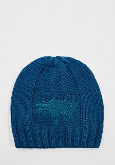 Шапка, Emporio Armani, цвет: синий. Артикул: EM598CWJUQW8. Аксессуары / Головные уборы