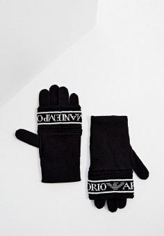 Перчатки, Emporio Armani, цвет: черный. Артикул: EM598DWJUQY4. Аксессуары / Перчатки и варежки