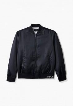 Куртка, Emporio Armani, цвет: синий. Артикул: EM598EBHNHN0. Мальчикам / Одежда