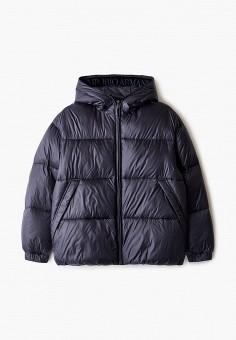 Куртка утепленная, Emporio Armani, цвет: синий. Артикул: EM598EBJUPT2. Мальчикам / Одежда