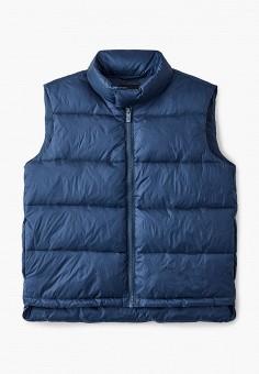 Жилет утепленный, Emporio Armani, цвет: синий. Артикул: EM598EBJUQB5. Мальчикам / Одежда / Верхняя одежда