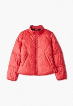 Куртка утепленная, Emporio Armani, цвет: розовый. Артикул: EM598EGFOTC3. Девочкам / Одежда / Верхняя одежда / Куртки и пуховики