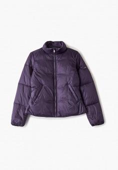 Куртка утепленная, Emporio Armani, цвет: фиолетовый. Артикул: EM598EGFOTC4. Девочкам / Одежда / Верхняя одежда / Куртки и пуховики