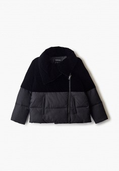 Куртка утепленная, Emporio Armani, цвет: черный. Артикул: EM598EGFOTO9. Девочкам / Одежда / Верхняя одежда / Куртки и пуховики