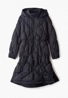 Куртка утепленная, Emporio Armani, цвет: черный. Артикул: EM598EGFOTP1. Девочкам / Одежда / Верхняя одежда / Куртки и пуховики