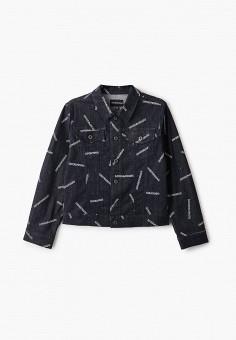 Куртка джинсовая, Emporio Armani, цвет: синий. Артикул: EM598EKHNHN1. Мальчикам / Одежда / Верхняя одежда