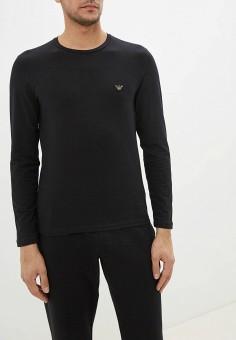 Лонгслив домашний, Emporio Armani, цвет: черный. Артикул: EM598EMFOWJ2. Одежда / Домашняя одежда