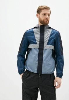 Куртка, Emporio Armani, цвет: синий, мультиколор. Артикул: EM598EMHNET0. Одежда / Верхняя одежда