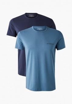 Комплект, Emporio Armani, цвет: голубой, синий. Артикул: EM598EMKHTO3. Одежда / Нижнее белье