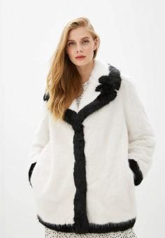 Шуба, Emporio Armani, цвет: белый. Артикул: EM598EWFWJI2. Одежда / Верхняя одежда / Шубы и дубленки
