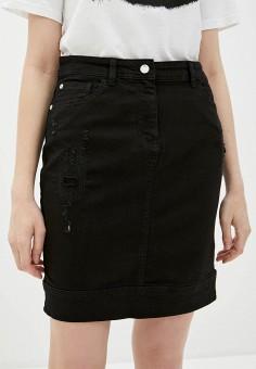 Юбка джинсовая, Emporio Armani, цвет: черный. Артикул: EM598EWHMXD3. Одежда / Юбки