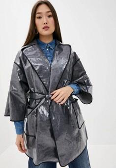 Плащ, Emporio Armani, цвет: серый. Артикул: EM598EWHMXO1. Одежда / Верхняя одежда / Плащи и тренчи