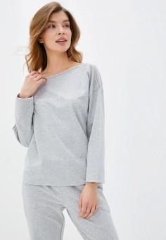 Лонгслив домашний, Emporio Armani, цвет: серый. Артикул: EM598EWHXPS7. Одежда / Домашняя одежда