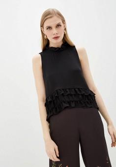 Блуза, Emporio Armani, цвет: черный. Артикул: EM598EWJGVR7. Одежда / Блузы и рубашки