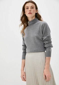 Водолазка, Emporio Armani, цвет: серый. Артикул: EM598EWJURY5. Одежда / Джемперы, свитеры и кардиганы / Водолазки