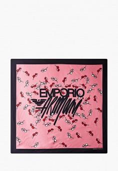 Платок, Emporio Armani, цвет: розовый. Артикул: EM598GWJUQW3. Аксессуары / Платки и шарфы