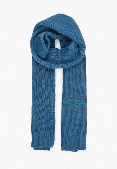 Шарф, Emporio Armani, цвет: синий. Артикул: EM598GWJUQX2. Аксессуары / Платки и шарфы
