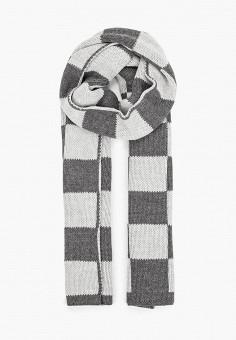 Шарф, Emporio Armani, цвет: серый. Артикул: EM598GWJUQY3. Аксессуары / Платки и шарфы