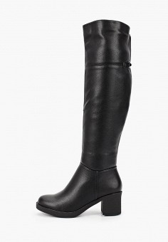 Ботфорты, Enjoin', цвет: черный. Артикул: EN009AWFXKJ1. Обувь / Сапоги / Ботфорты
