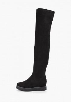 Ботфорты, Enjoin', цвет: черный. Артикул: EN009AWFXKJ5. Обувь / Сапоги / Ботфорты
