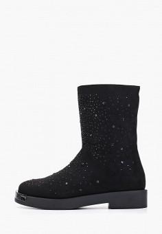 Полусапоги, Enjoin', цвет: черный. Артикул: EN009AWFXKJ9. Обувь / Сапоги