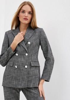 Пиджак, Escada Sport, цвет: серый. Артикул: ES006EWHOBC4. Одежда / Пиджаки и костюмы