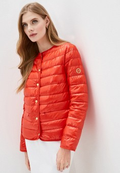 Пуховик, Escada Sport, цвет: красный. Артикул: ES006EWIJYY8. Одежда / Верхняя одежда / Пуховики и зимние куртки / Пуховики