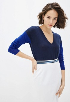 Пуловер, Escada Sport, цвет: синий. Артикул: ES006EWIJZC1. Одежда / Джемперы, свитеры и кардиганы / Джемперы и пуловеры