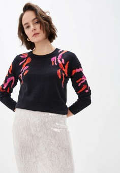 Джемпер, Escada Sport, цвет: черный. Артикул: ES006EWIJZE3. Одежда / Джемперы, свитеры и кардиганы / Джемперы и пуловеры / Джемперы