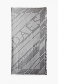 Палантин, Escada Sport, цвет: серый. Артикул: ES006GWJXNA7. Аксессуары / Платки и шарфы
