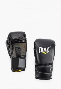 Перчатки боксерские, Everlast, цвет: черный. Артикул: EV001DUIMVO3. Аксессуары / Перчатки и варежки