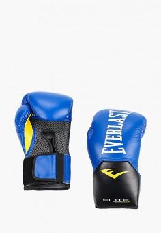 Перчатки боксерские, Everlast, цвет: синий. Артикул: EV001DUIMVO4. Аксессуары / Перчатки и варежки