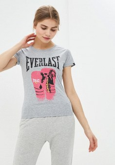 Футболка, Everlast, цвет: серый. Артикул: EV001EWECOW7. Одежда / Футболки и поло