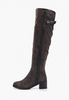 Ботфорты, Evita, цвет: серый. Артикул: EV002AWGMTA2. Обувь / Сапоги / Ботфорты