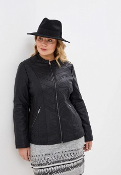Куртка кожаная, Evans, цвет: черный. Артикул: EV006EWIEXD5. Одежда / Верхняя одежда / Кожаные куртки