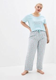 Пижама, Evans, цвет: голубой, серый. Артикул: EV006EWIKIC4. Одежда / Домашняя одежда / Пижамы