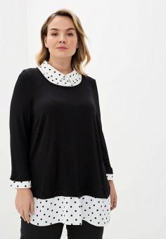 Блуза, Evans, цвет: черный. Артикул: EV006EWILNN2. Одежда / Блузы и рубашки
