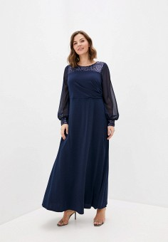 Платье, Evans, цвет: синий. Артикул: EV006EWISPE3. Одежда / Платья и сарафаны