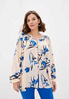 Блуза, Evans, цвет: бежевый. Артикул: EV006EWISPF0. Одежда / Одежда больших размеров