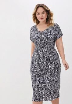 Платье, Evans, цвет: синий. Артикул: EV006EWJGIQ5. Одежда / Одежда больших размеров