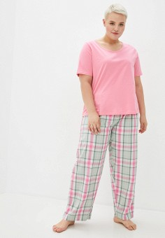 Пижама, Evans, цвет: мультиколор, розовый. Артикул: EV006EWJSHI2. Одежда / Домашняя одежда