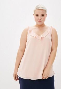 Топ, Evans, цвет: розовый. Артикул: EV006EWJUAG8. Одежда / Одежда больших размеров