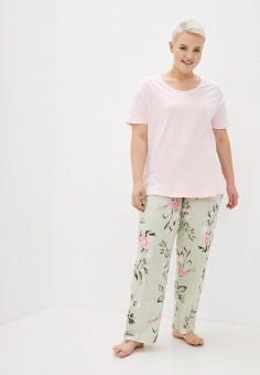 Пижама, Evans, цвет: зеленый, розовый. Артикул: EV006EWJUAH0. Одежда / Домашняя одежда / Пижамы