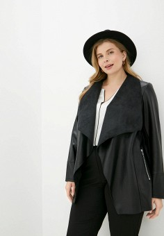 Куртка кожаная, Evans, цвет: черный. Артикул: EV006EWJYJI9. Одежда / Верхняя одежда / Кожаные куртки