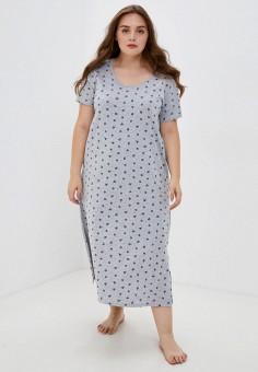 Платье домашнее, Evans, цвет: серый. Артикул: EV006EWKICW3. Одежда / Домашняя одежда