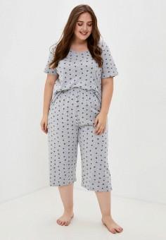Пижама, Evans, цвет: серый. Артикул: EV006EWKICW6. Одежда / Домашняя одежда / Пижамы