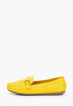 Мокасины, Exquily, цвет: желтый. Артикул: EX003AWJCOO3. Обувь / Мокасины и топсайдеры