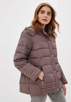 Куртка утепленная, EXSY, цвет: бежевый. Артикул: EX005EWHMPG0. Одежда / Верхняя одежда / Демисезонные куртки