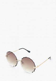 Очки солнцезащитные, Fabretti, цвет: золотой. Артикул: FA003DWIOCW0. Аксессуары / Очки