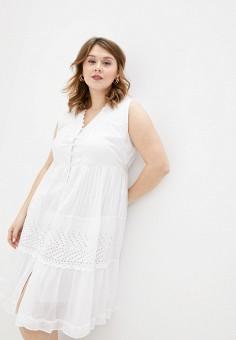 Платье пляжное, Fabretti, цвет: белый. Артикул: FA003EWIXAN9. Одежда / Купальники и пляжная одежда
